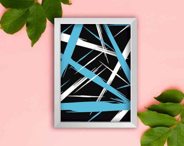 ABSTRACTO (Diseño 1), Blanco, Sin margen