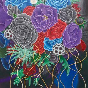 flores pintadas, De artista
