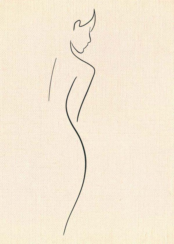 Ilustración MUJER (Línea), sin margen
