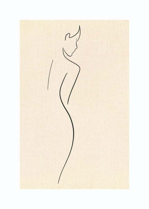 Ilustración MUJER (Línea), con margen