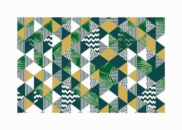 patrón de triángulos 1 margen