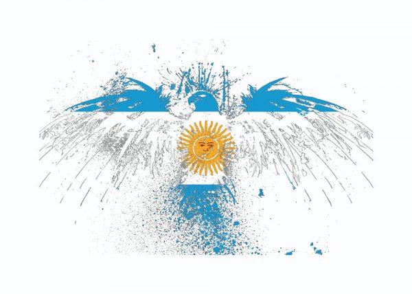 Ilustración ÁGUILA ARGENTINA / con margen