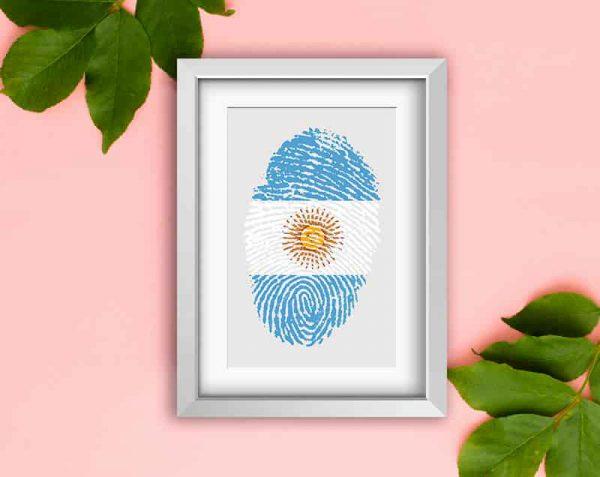 HUELLA ARGENTINA, Blanco / con margen
