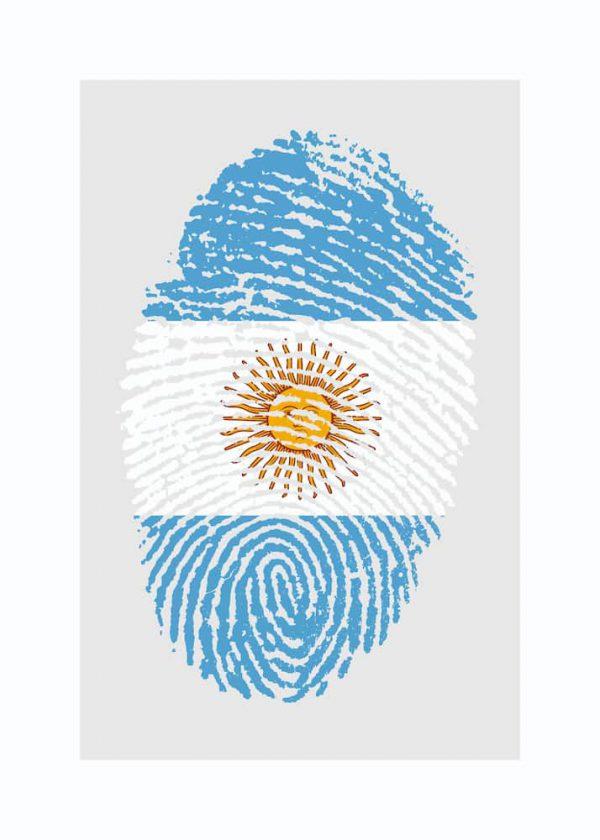 Ilustración HUELLA ARGENTINA / con margen