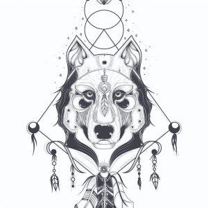 Ilustración LOBO (diseño 2), sin margen
