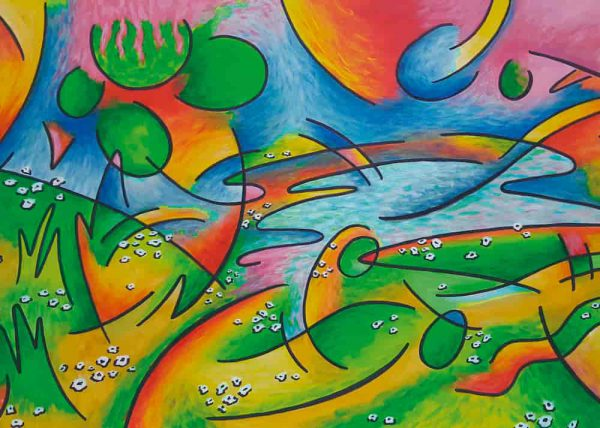 Pintura PAISAJE ABSTRACTO / sin margen / De artista