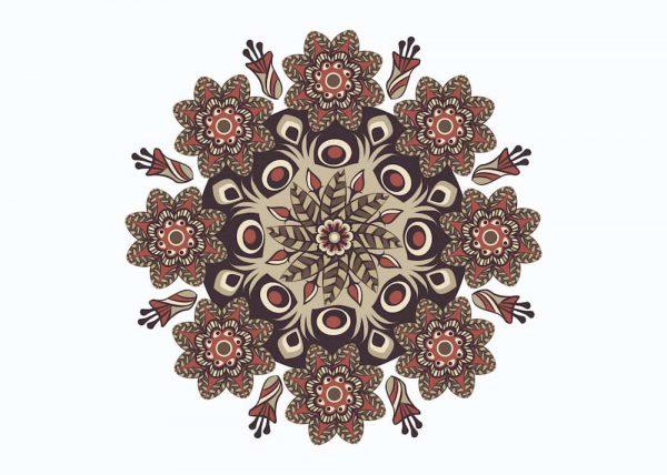 Ilustración MANDALA MARGEN / sin margen / horizontal