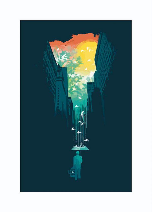 Ilustración PARAGUAS / con margen / vertical