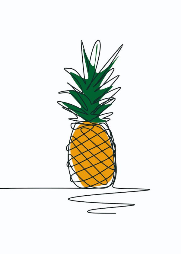 Ilustración PIÑA / Sin margen