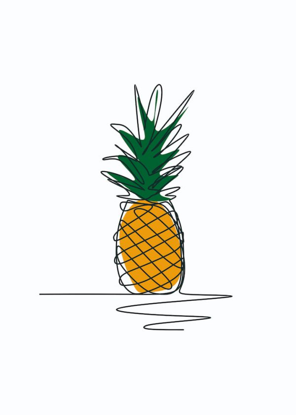 Ilustración PIÑA / Con margen