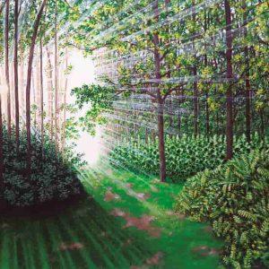 Pintura BOSQUE Y SOL / De artista
