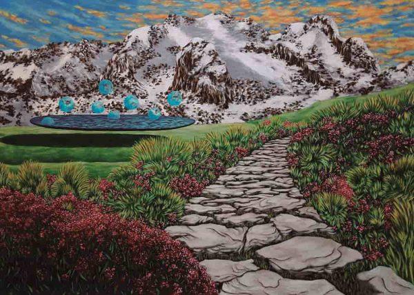 Pintura LAGO FLOTANTE / De artista