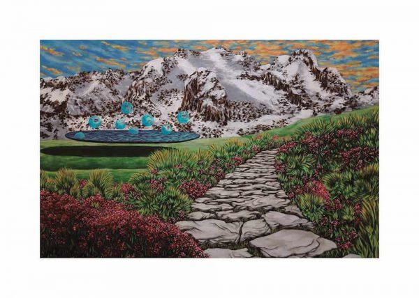 Pintura LAGO FLOTANTE / De artista / Con margen