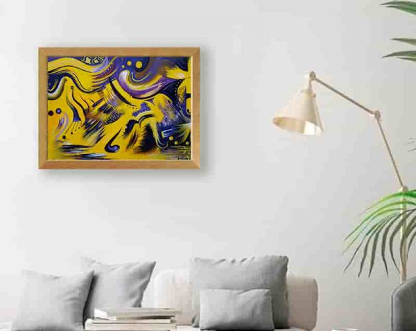 ABSTRACTO AMARILLO, Natural / sin margen