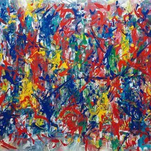 Pintura ABSTRACTO PRIMARIOS / sin margen / horizontañ