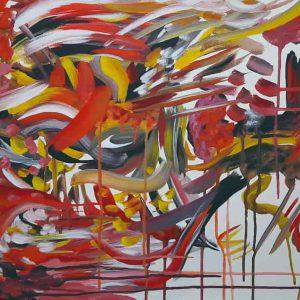 Pintura ABSTRACTO ROJO / sin margen
