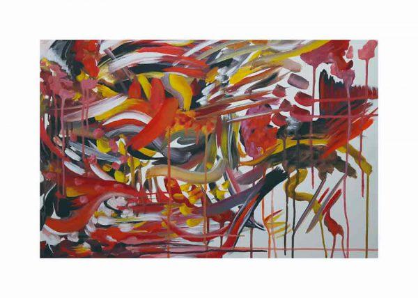 Pintura ABSTRACTO ROJO / con margen