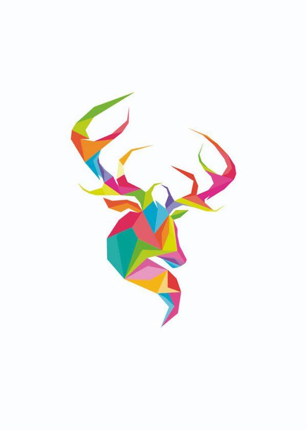Ilustración Ciervo Colores