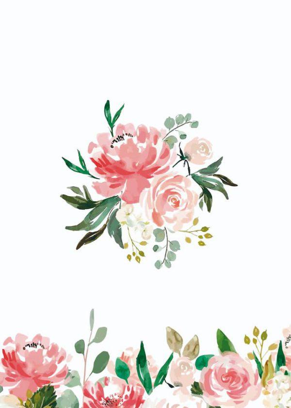 Ilustración Flor centrada