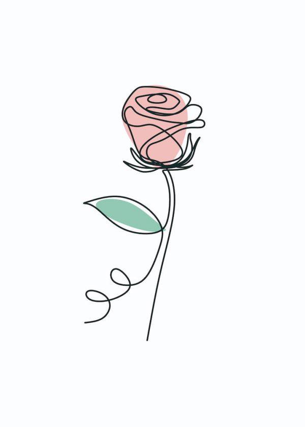 Ilustración Flor linea 2