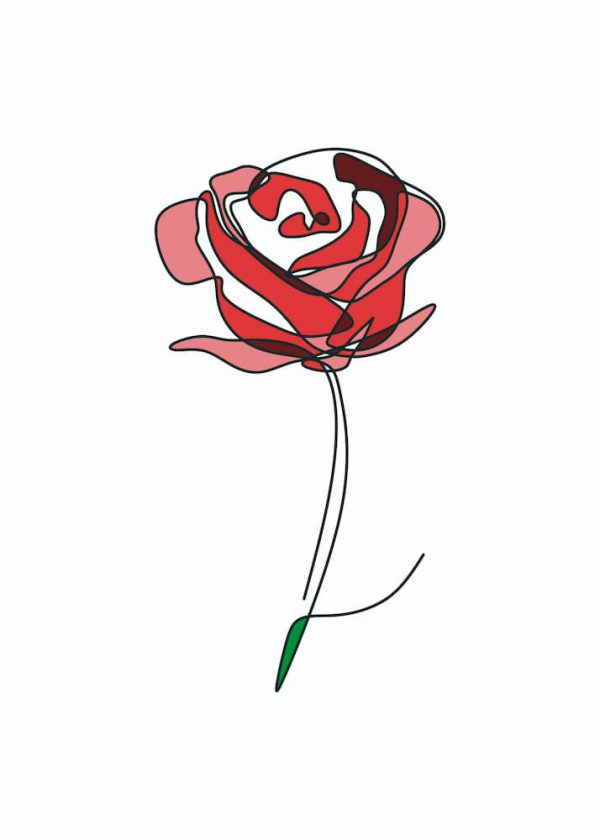 Ilustración Flor linea