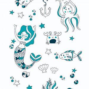 Ilustración Oceano linea