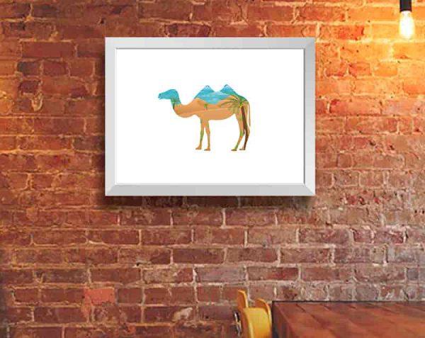 Camello Doble, Blanco / Sin margen