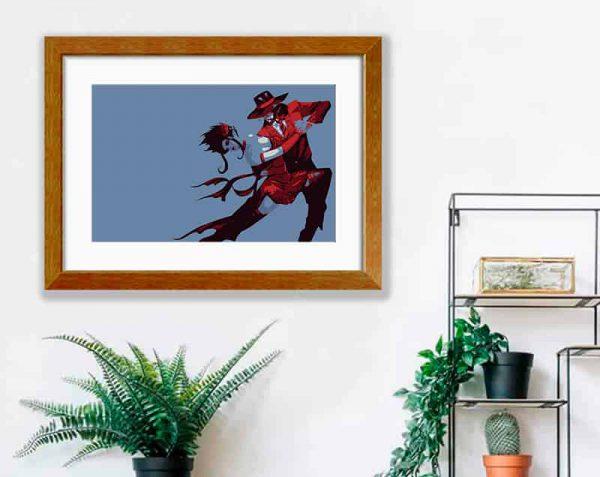 Ilustración Tango, Barnizado / con margen