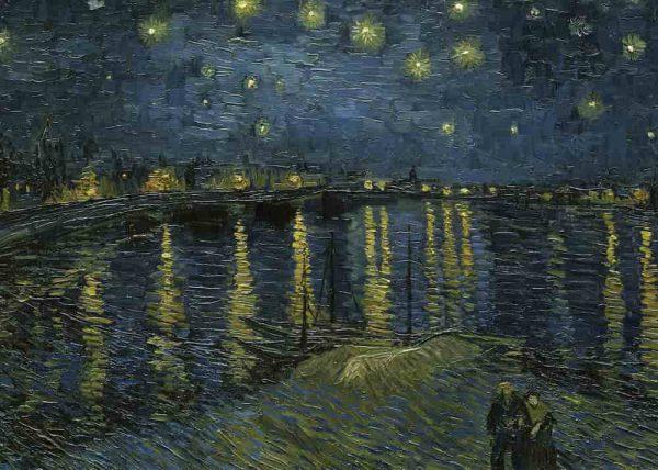 Pintura Noche estrellada sobre Ródano