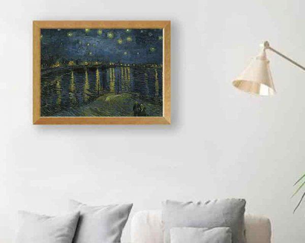 Noche estrellada sobre Ródano, Natural / Sin margen
