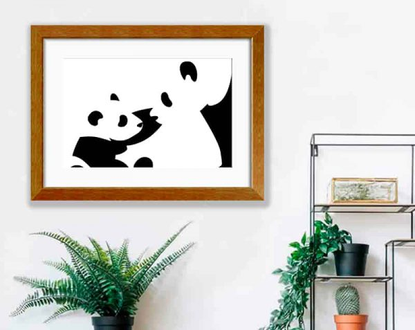 Pandas, Barnizado / con margen