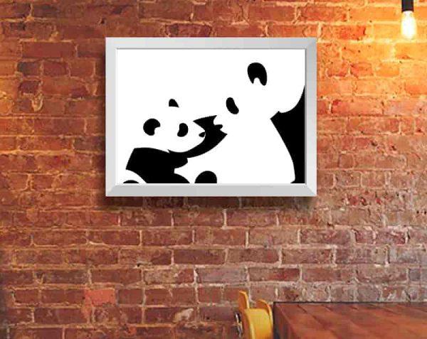 Pandas, Blanco / Sin margen