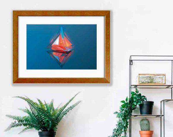Pirámide de Cristal, Barnizado / con margen