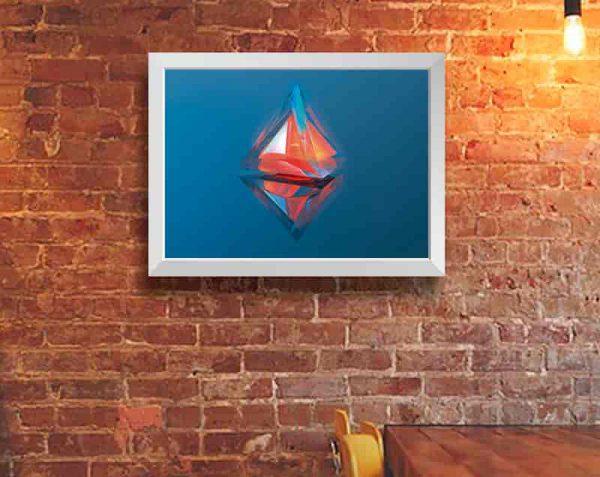 Pirámide de Cristal, Blanco / Sin margen