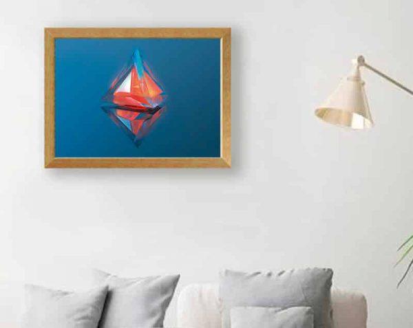Pirámide de Cristal, Natural / Sin margen