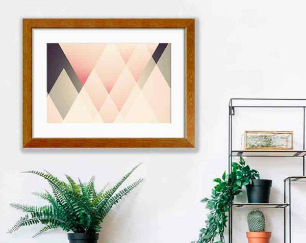 Triángulos Decorativos, Barnizado / con margen