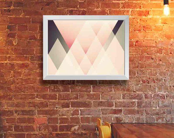 Triángulos Decorativos, Blanco / Sin margen