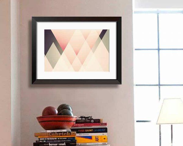 Triángulos Decorativos, Negro / Con margen