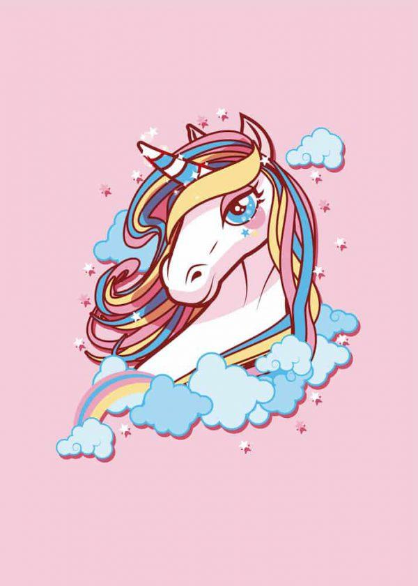 Ilustración Unicornio Rosa